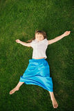 Little girl doing yoga exercise Stock Photography