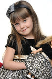 Little girl with doll Royalty Free Stock Photography