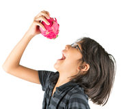 Little Girl and Dragonfruit II Royalty Free Stock Photo