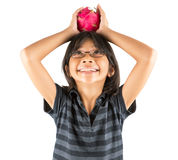 Little Girl and Dragonfruit III Royalty Free Stock Images