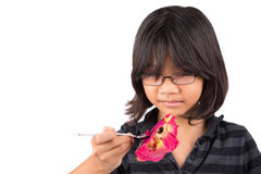 Little Girl and Dragonfruit VI Royalty Free Stock Photo