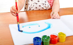 Little Girl Drawing Royalty Free Stock Photo