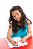 Little girl drawing a picture Royalty Free Stock Photos