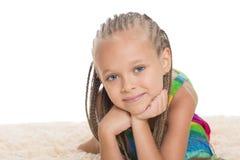 Little girl with dreadlocks Stock Photo
