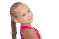 Little girl with dreadlocks Stock Photo