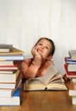 The little girl dream Stock Photos