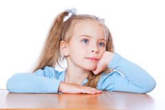 Little girl is dreaming Royalty Free Stock Photos
