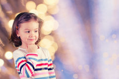 Little girl dreams Stock Photography