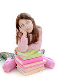 Little girl dreams Royalty Free Stock Images