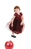Little girl in dress Royalty Free Stock Image