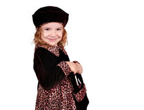 Little girl in a dress Stock Photography