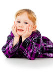 Little girl in a dress Stock Images