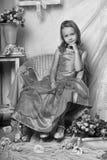Little girl in a dress Stock Photo
