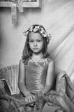 Little girl in a dress Royalty Free Stock Image