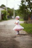 Little girl in dress outdoor photo Royalty Free Stock Image