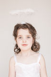 Little Girl Dressed As An Angel Stock Photography