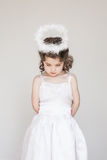 Little Girl Dressed As An Angel Royalty Free Stock Photos