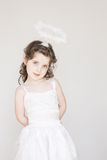 Little Girl Dressed As An Angel Stock Image