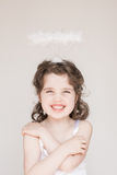Little Girl Dressed As An Angel Royalty Free Stock Images