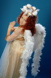 Little girl dressed as an angel Royalty Free Stock Image