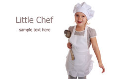 Little girl dressed as a cook Royalty Free Stock Images