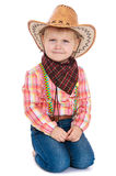 Little girl dressed as a cowboy Royalty Free Stock Photo