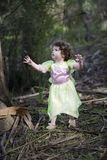 Little girl dressed as a fairy Stock Photography