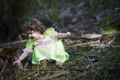 Little girl dressed as a fairy Royalty Free Stock Photo