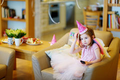 Little girl dressed as fairy Royalty Free Stock Photo