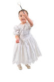 Little Girl Dressed As Fairy Or Princess. Stock Photography