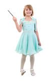 Little Girl Dressed As Fairy Or Princess. Stock Photos