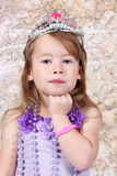 Little girl Dressed as Princeness Stock Photo