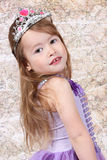 Little girl Dressed as Princess Stock Image
