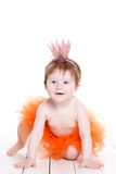 Little girl dressed as a princess frog. Royalty Free Stock Photography