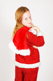 Little girl dressed as santa Royalty Free Stock Image