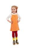 Little girl dressed for gardening Royalty Free Stock Photos