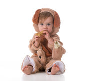 Little girl dressed like a puppy Stock Photography