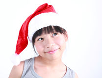 Little girl dressed like a santa claus Royalty Free Stock Image