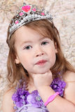 Little girl Dressed at Princess Stock Photos