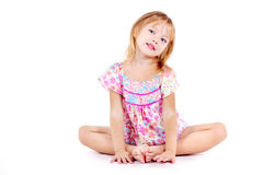 Little girl dressed in sundress Stock Photos