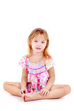Little girl dressed in sundress Stock Photo