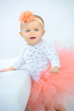 Little girl dressed in tutu royalty free stock images