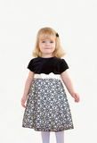Little Girl Dressed Up. A Little Girl Dressed Up in a Formal Dress Royalty Free Stock Images