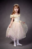 Little girl dressed up as a princess Stock Photos