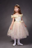 Little girl dressed up as a princess Stock Images