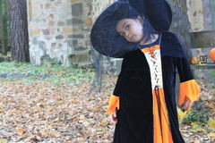Little girl dressed up for Halloween eve Royalty Free Stock Photo