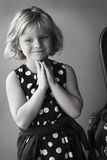Little Girl dressed up. Portrait of a little girl smiling in nice dress Royalty Free Stock Image