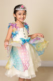 Little Girl Dressed Up in a Princess Costume Royalty Free Stock Photo