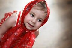 Little girl in dresses dancing with handkerchief Stock Photo