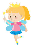 Little girl dresses in fairy outfit. Illustration Stock Photos